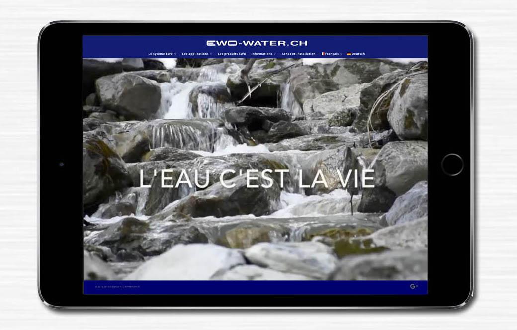 Un nouveau site internet pour ewo-water.ch